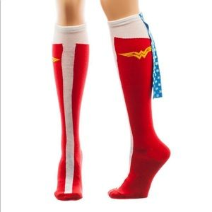 NWT Wonder Woman Knee High Socks